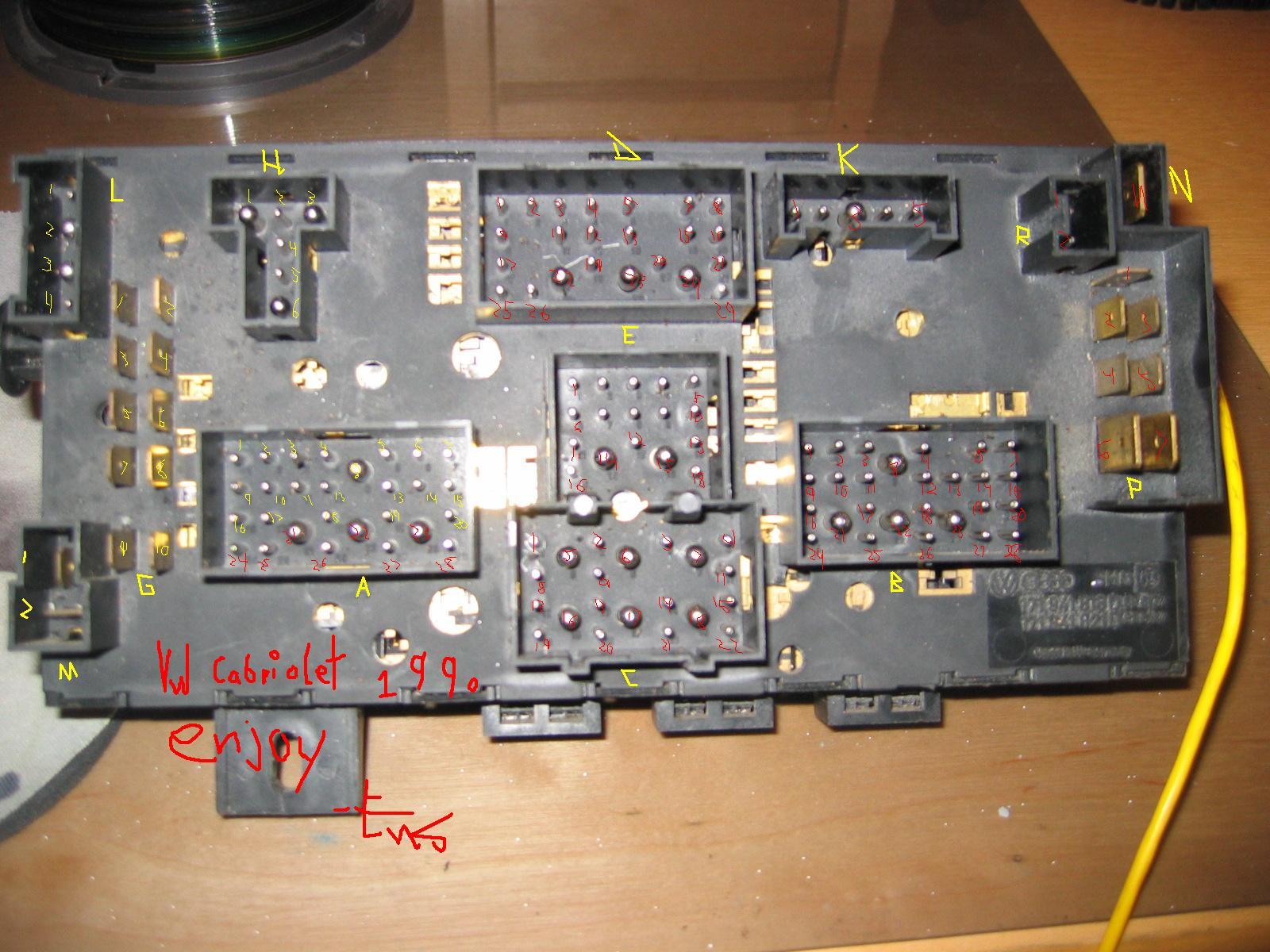 1991 Vw Cabriolet Fuse Panel Diagram Archive Of Automotive Wiring Audi 90 Box Vwvortex Com 1988 89 Euro Spec Rh Forums